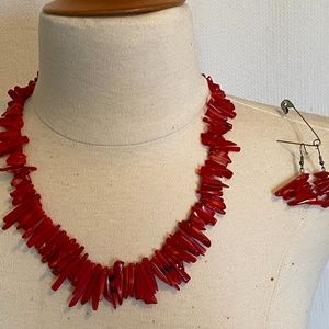 Red stone Necklace SET